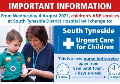 Read more about One week to go until important changes to children's A&E services in South Tyneside